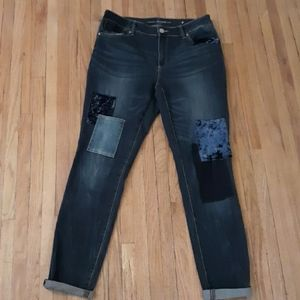 Chicos patched jeggings Jean's.  Chicos size .5